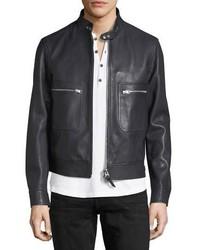 Tom Ford Lambskin Leather Bomber Jacket