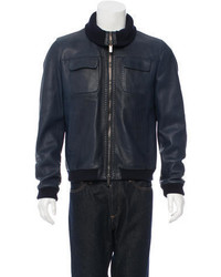 Fendi Leather Bomber Jacket