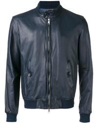Jacob Cohen Leather Bomber Jacket