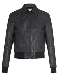 Leather bomber jacket medium 805743