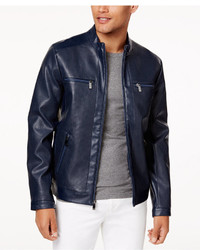 Calvin Klein Perforated Faux Leather Jacket