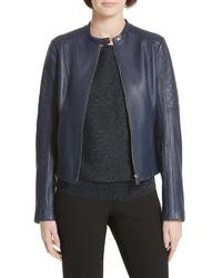 BOSS Sadeno Leather Moto Jacket