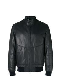 Z Zegna Zipped Biker Bomber Jacket