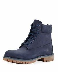 6 premium waterproof hiking boot navy medium 1149168