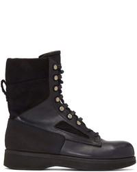 Sacai Navy Hender Scheme Edition Lace Up Boots