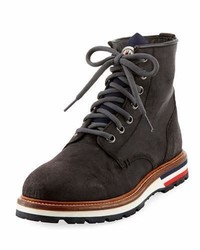 Moncler New Vancouver Leather Lace Up Boot