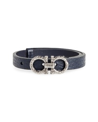 Salvatore Ferragamo Double Gancio Leather Bracelet