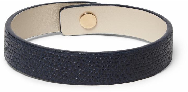 Valextra Pebble-grain Leather Bracelet - Green mCwHNOA