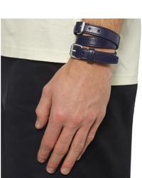 Balenciaga Wred Creased Leather Bracelet