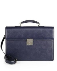 Saks Fifth Avenue Collection Single Gusset Leather Briefcase