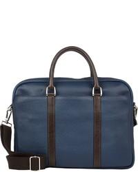 Barneys New York Contrast Trim Briefcase