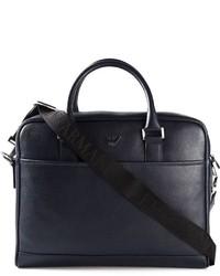 Emporio Armani Logo Plaque Briefcase