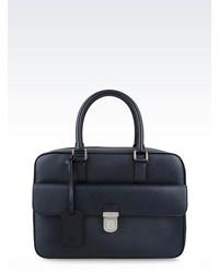 Giorgio Armani Briefcase In Saffiano Calfskin