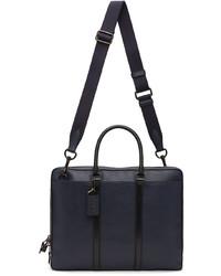 Coach 1941 Navy Leather Metropolitan Slim Briefcase