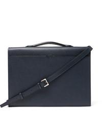Valextra Pebble Grain Leather Briefcase