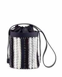 Paco Rabanne 1401 Chain Link Mini Bucket Bag Blue