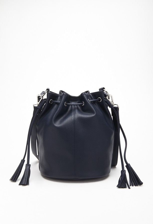 573f7cc6302 $27, Forever 21 Faux Leather Bucket Bag