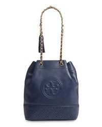 Tory Burch Fleming Leather Bucket Bag
