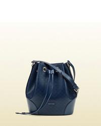 Gucci Bright Diamante Leather Bucket Bag