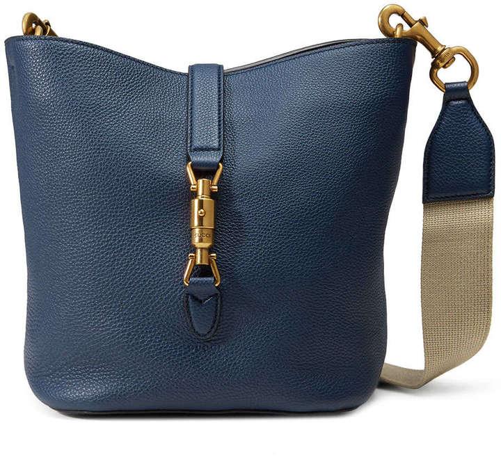6e7f2437b97 ... Gucci Jackie Soft Leather Bucket Bag Navy ...