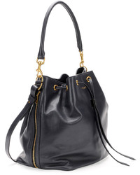 Saint Laurent Medium Bucket Shoulder Bag Navy | Where to buy & how ...
