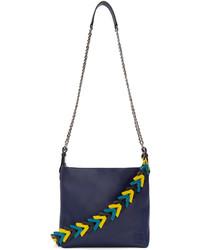 Loewe Navy Leather V Bucket Bag