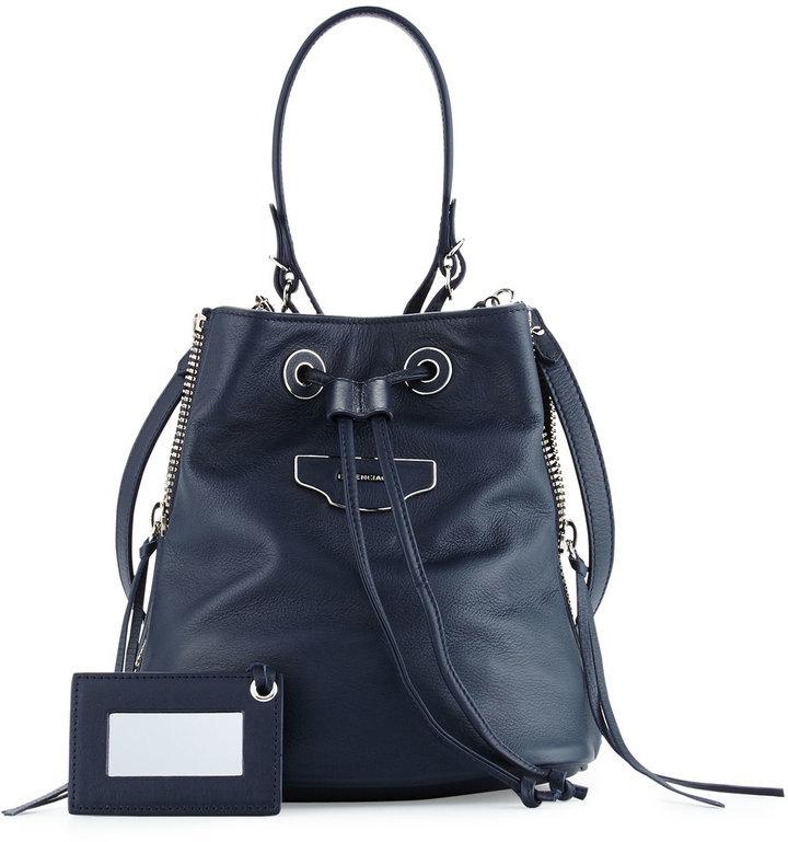 f0873c1d65 ... Bags Balenciaga Papier Plate Extra Small Side Zip Bucket Bag ...
