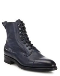 Edward Green Leather Cap Toe Ankle Boots