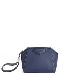 Antigona leather zip pouch black medium 715630
