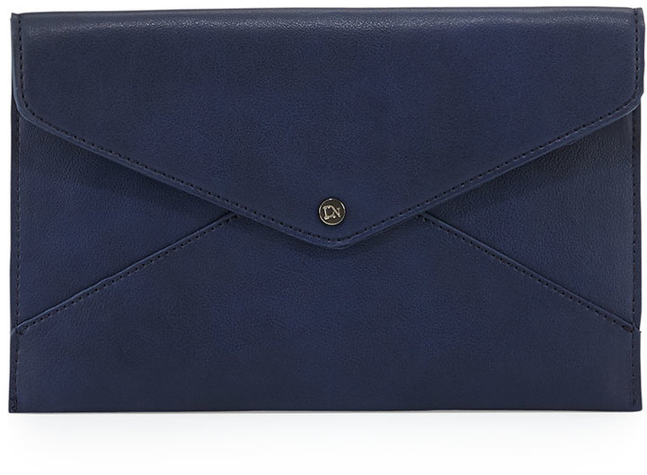 bf9563398b $38, Danielle Nicole Tina Faux Leather Envelope Clutch Navy