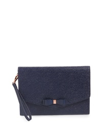 Ted Baker London Krystan Bow Leather Envelope Clutch