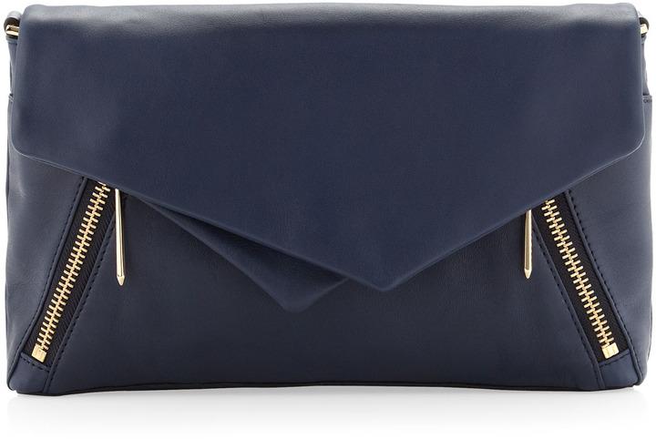 Pour La Victoire Nouveau Leather Clutch Bag Navy   Where to buy ...