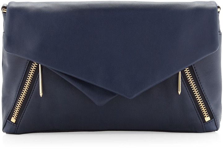 Navy Leather Clutch: Pour La Victoire Nouveau Leather Clutch Bag Navy