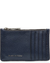 Marc Jacobs Two Tone Leather Card Zip Pouch