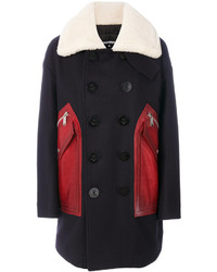 Dsquared2 Shearling Leather Pocket Coat
