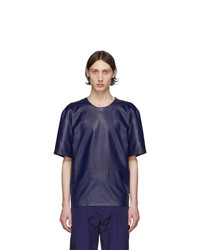Paul Smith Navy Leather T Shirt