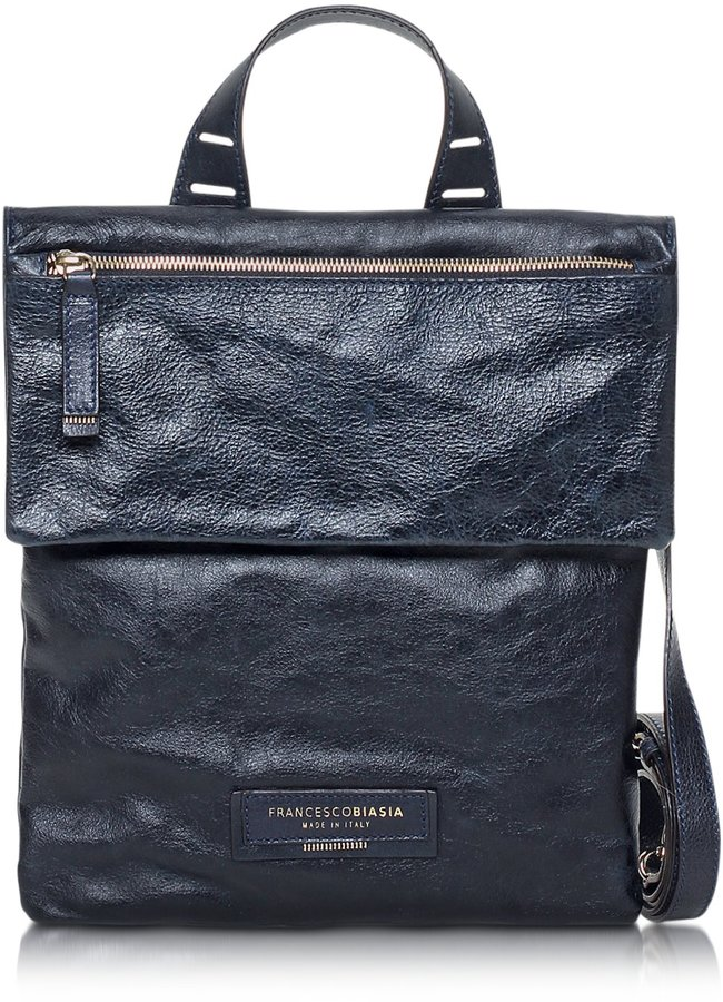 d20d30b6f2 Francesco Biasia Beautiful Day Leather Flat Crossbody Bag