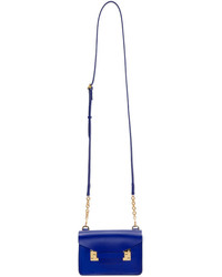 Sophie Hulme Blue Nano Milner Crossbody Bag