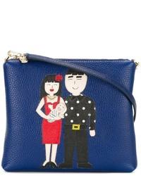 5865e8803d85 Women s Navy Leather Crossbody Bags by Dolce   Gabbana