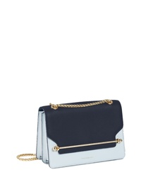 STRATHBERRY Eastwest Bicolor Leather Crossbody Bag