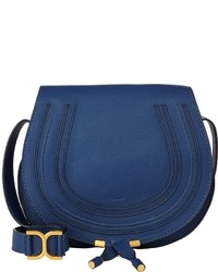 Chloé Marcie Crossbody Saddle Bag Blue