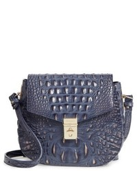 Brahmin Melbourne Lizzie Leather Crossbody Bag Blue
