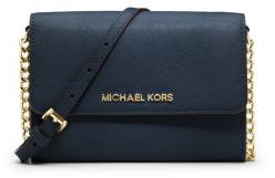 ec99e9f2ac0b ... Michael Kors Michl Kors Jet Set Travel Saffiano Leather Smartphone  Crossbody ...