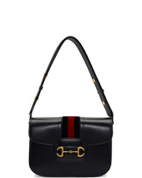 Gucci Navy 1955 Horsebit Shoulder Bag