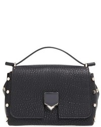 Jimmy Choo Small Lockett Leather Crossbody Bag Black