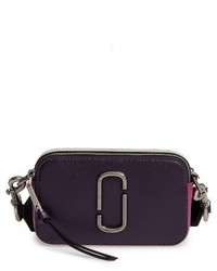 Marc Jacobs Snapshot Leather Crossbody Bag Blue