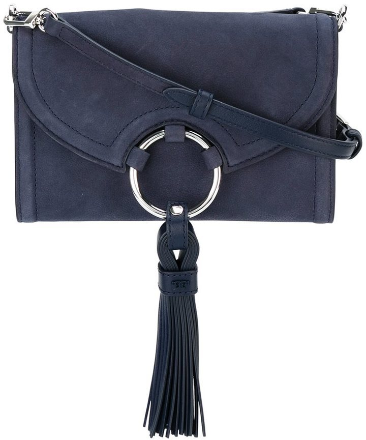 259bbd6bdf29 Tassel Detail Crossbody Bag. Navy Leather Crossbody Bag by Tory Burch