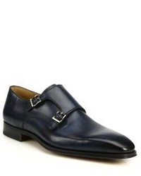 Saks Fifth Avenue Collection By Magnanni Amelio Leather Double Monk Strap Shoes