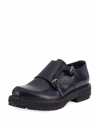 Valentino Punky Chic Double Monk Shoe Navy