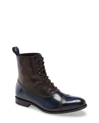 Navy Leather Dress Boots